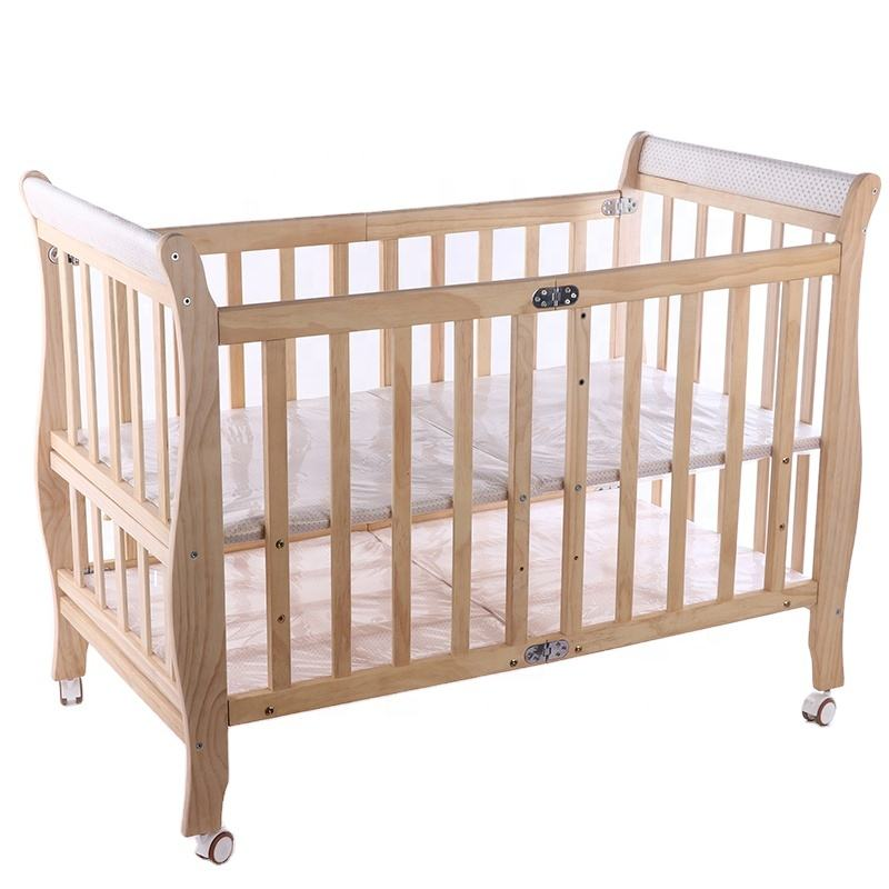 Hot Sales Customizable Fold Wooden Crib Baby Box Bed Baby Cot