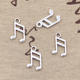 Custom lovely musical note charms vintage silver fashion lovely musical note charm pendant for jewelry 13*8mm