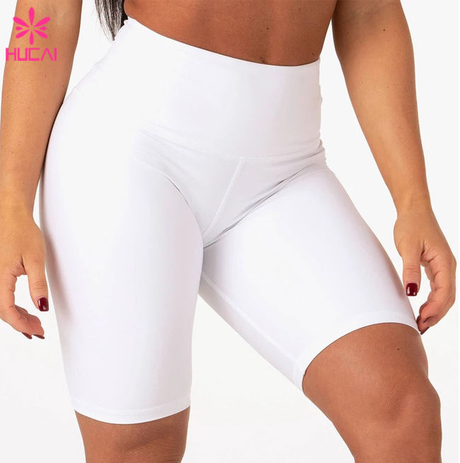 Hohe Taille Polyester Kompression Squat Beweis Fitness Bottom Nach Workout Frauen Biker Shorts