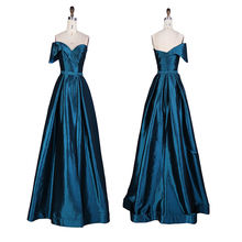 Low moq sweetheart one shoulder mikado floor-length high split sexy luxurious party wear gown evening dress for lady