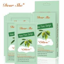 Dear She Olive Nose Pore Cleansing Strips Deep cleansing With witch hazel extract Instantly removes blackheads