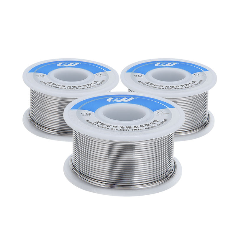 Amazon OEM Support Solder Wire 1.0mm Sn/Pb Sn63Pb37 Sn60Pb40 100g 0.8mm Low Temperature Solder Flux Cored Welding Wire