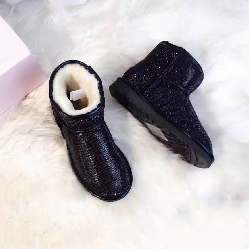 Wholesale funky bling bling sparkle snow boots