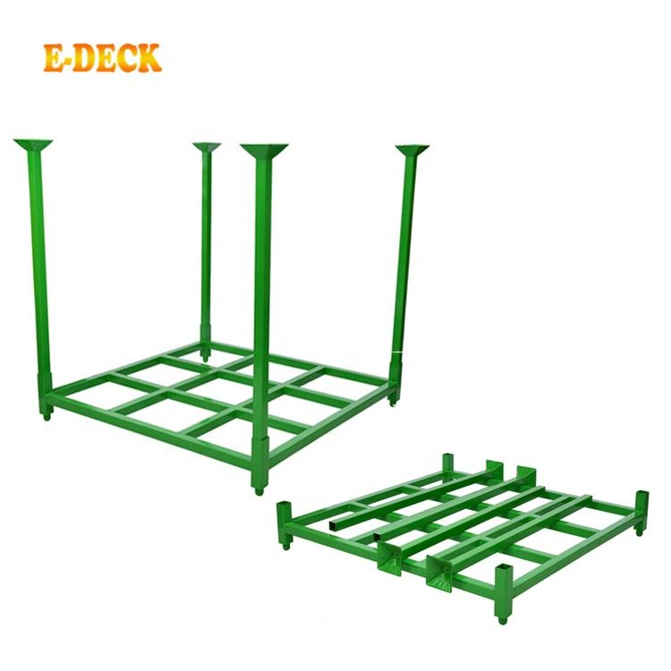 Adjustable Heavy Duty Wholesale Commercial Portable Folding Metal Stacking Steel Storage Truck Tire Pallet Rack