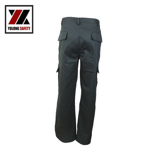 Oil Industry Working Safety Army Cargo Black Trousers Men