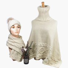 Recycled Polyester Eco Friendly Custom Winter Women Knitting Scarf Shawl
