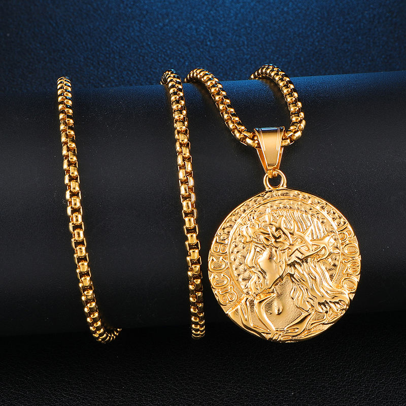 Hip hop Jewelry Ancient Money Gold Plated Fashionable Summer Coin Pendant Necklaces Chain