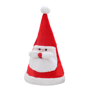 Amazon Hot Sale Singing Dancing Moving Santa Hat Plush Funny Dancing Christmas Hat
