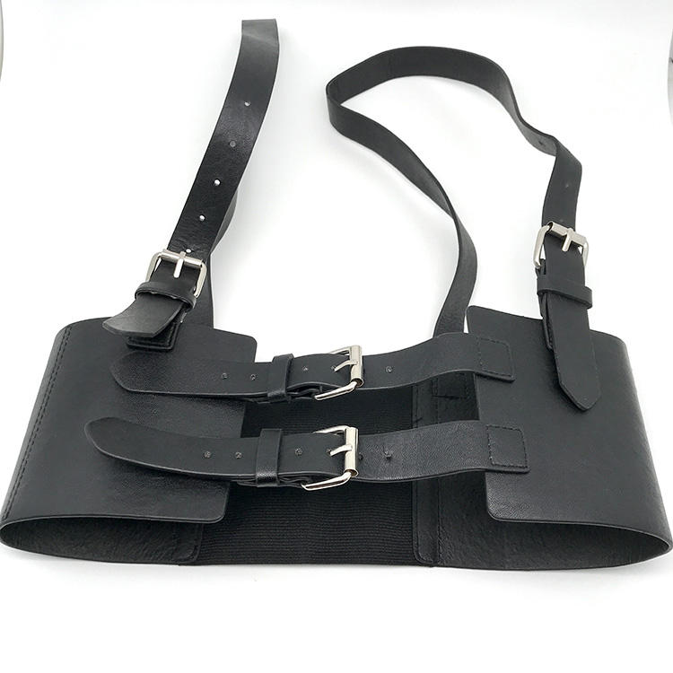 2020 New Hot Sale Fashion Women Sexy Punk PU Leather Adjustable Body Chest Harness Belt