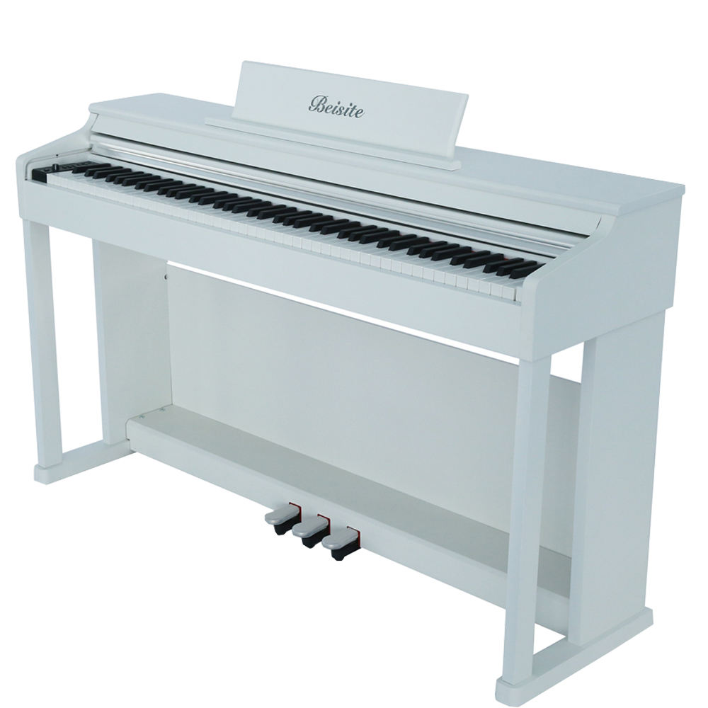 Wholesale white grand stand piano hammer 88 keyboards electric digital piano from China