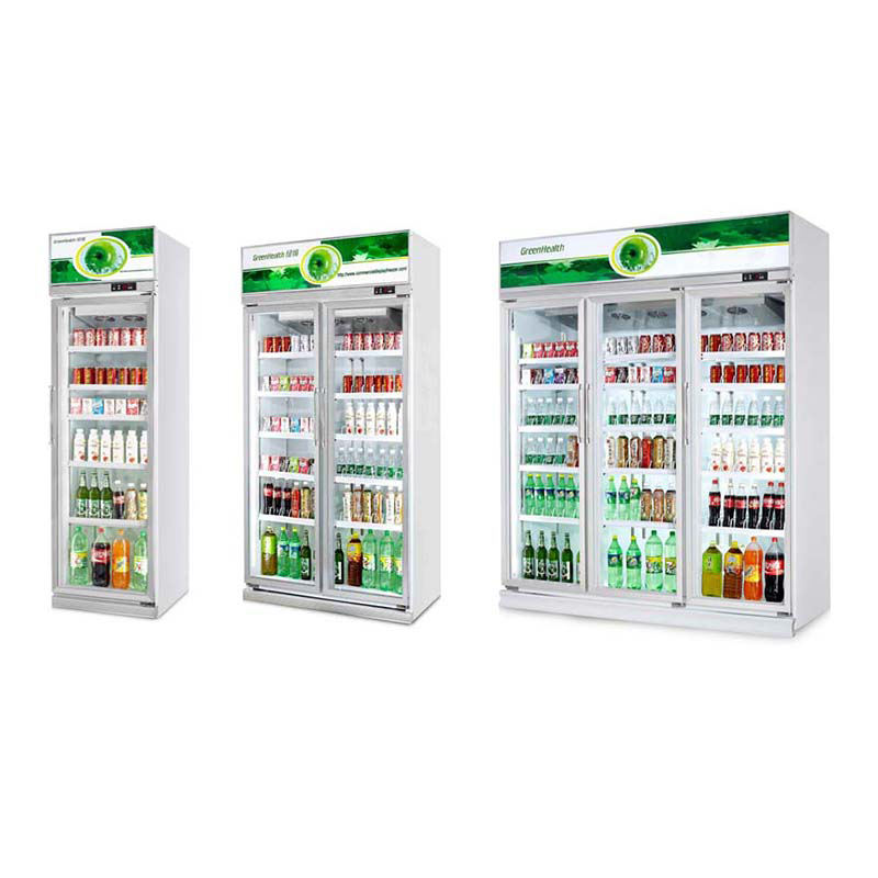 Professional Supermarket Equipment Refrigerator Beverage Display Upright Refrigersted Chiller Used Fridge