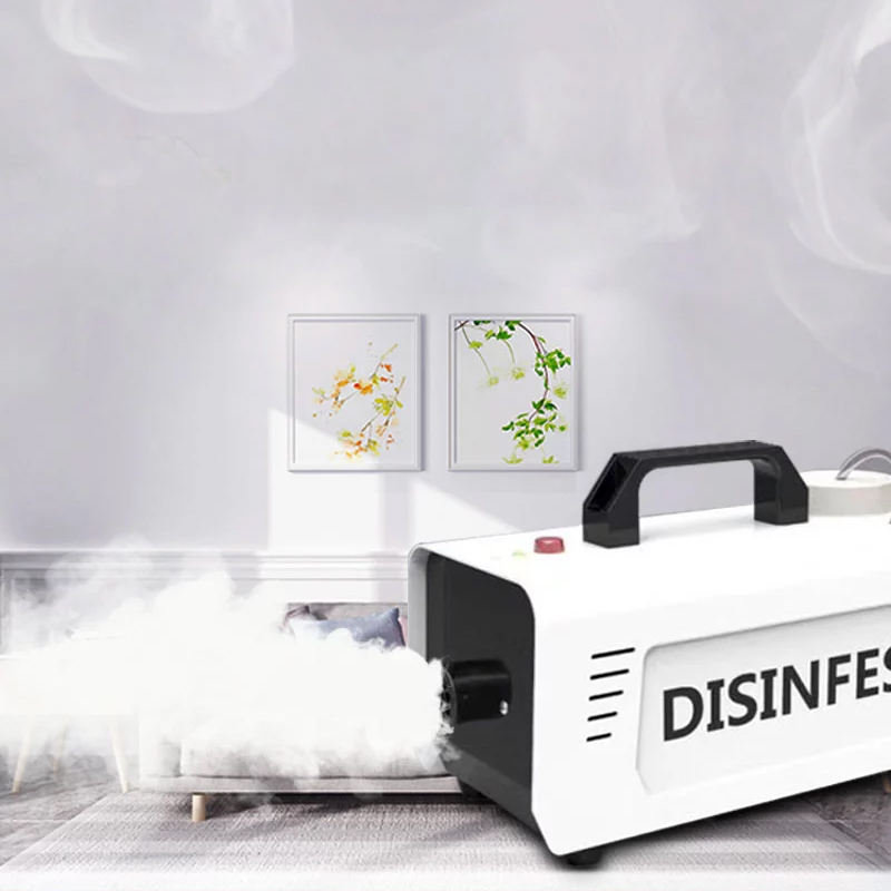 900W Mini Fog Machine Atomizing Disinfector Remote Control Smoke Machine For Cars, Streets,Schools