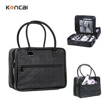 Professional Makeup Bag With 4 Extra Bags Carrying PU Leather luxury Cosmetic Bag