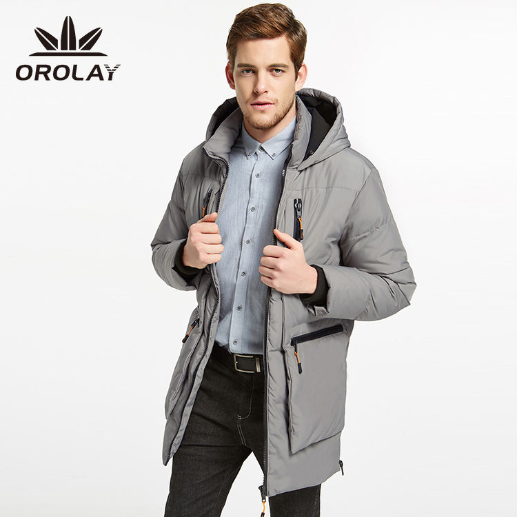 Orolay Series Multi Colored Hooded Coats with Ample Pockets Men's Thickened Down Jacket