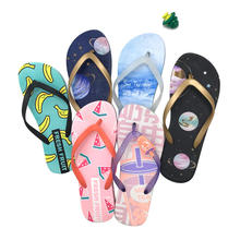 Fznyl 2020 high quality custom OEM/ODM new design slippers custom Sublimation Print beach women men pvc flip flops