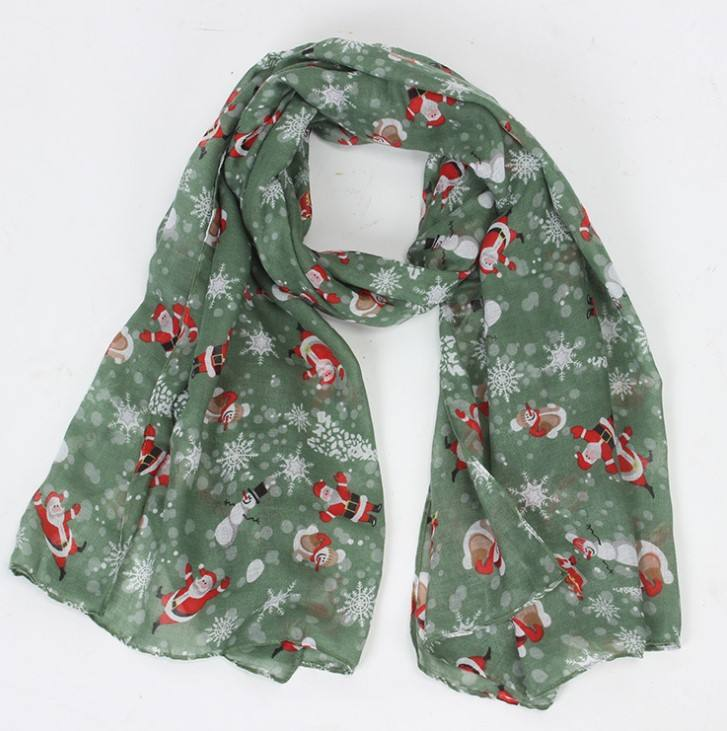 New style Christmas cartoon printed scarf