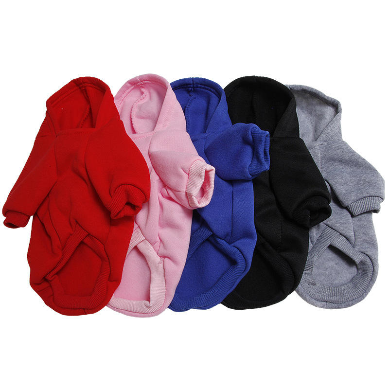 Fashion Dog Cat Clothes, Pet Solid Color Coats Cats Dog Outfit Warm Pet Jacket Hoodies//
