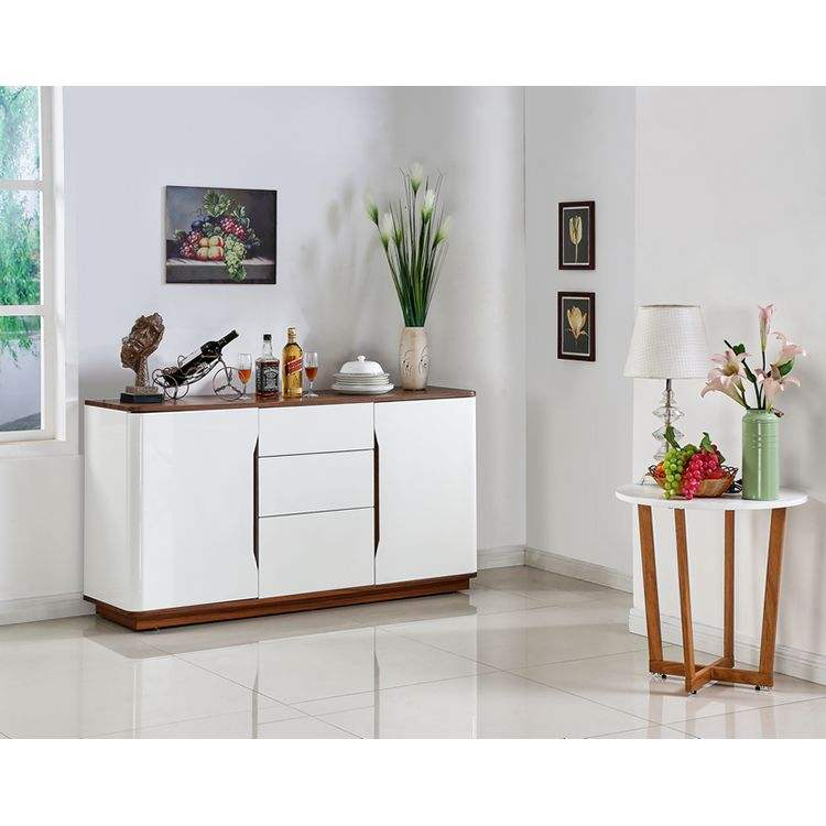 buffet dining cabinet modern wood white gloss lacquered luxury sideboards living room furniture