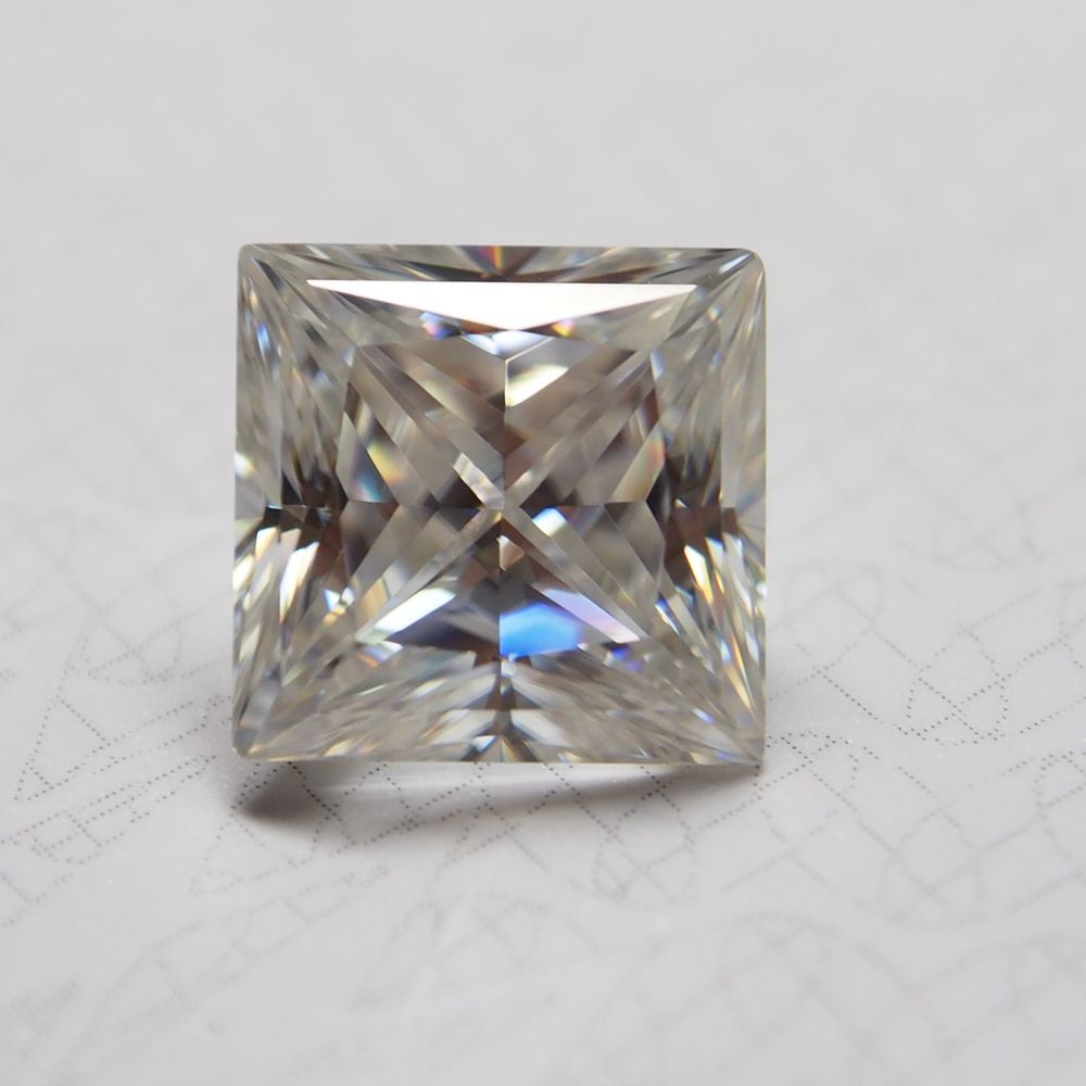 Hot sales high end products clear white d e f moissanite diamond 3 carat emerald cut 1.5 vvs with good price