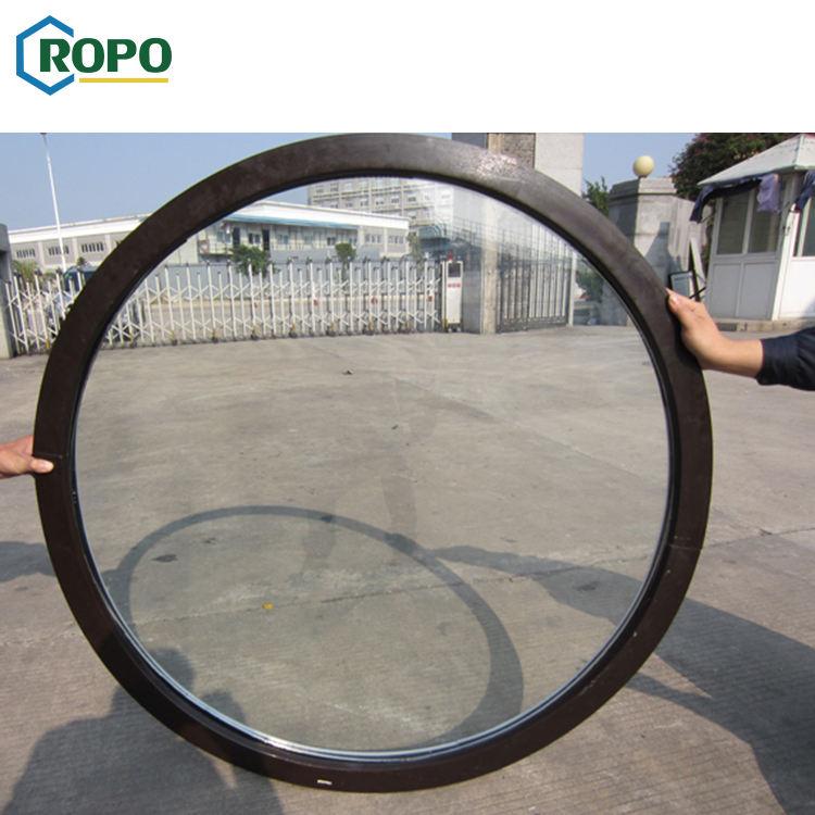 AGGA High Quality Black Round Hurrricane Double Glass Fix Window