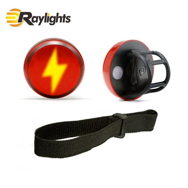 New Alien Lightning Sport Safety Warning Light Bicycle Tail Light Night Running Riding Helmet Light Rechargeable