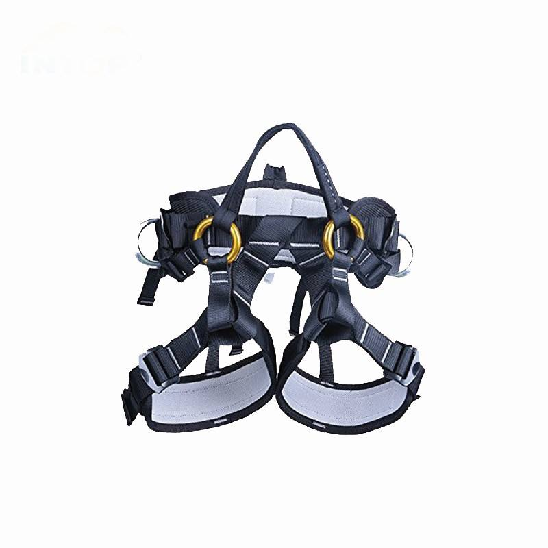 outdoor fall protection rock climbing half body climbing harness safety belt equipment
