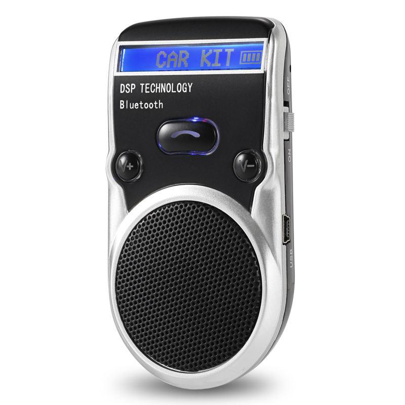 Bluetooth car kit FM129 Solar car MP3 Bluetooth hands-free LCD display caller number in English tone prompt