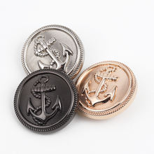fashion gold color anchor logo metal leg button for garments
