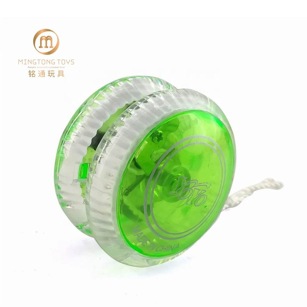 5.5X5.5X3.8CM Flash Light Clutch Ball Bearing String Trick Toy Factory Best Professional Yoyo