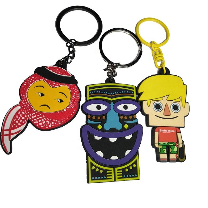 Custom Logo Printing Key Chain 3D PVC/Silicone/Rubber Keychains