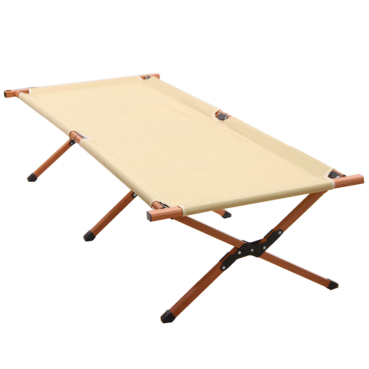 Tianye outdoor folding bed wood coating steel metal portable folding bed tent cot camping bed
