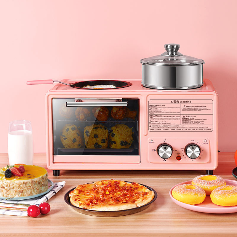 komex new product OEM 3 in 1 Breakfast machine Maker includes Smart toaster convection oven with bakerwear