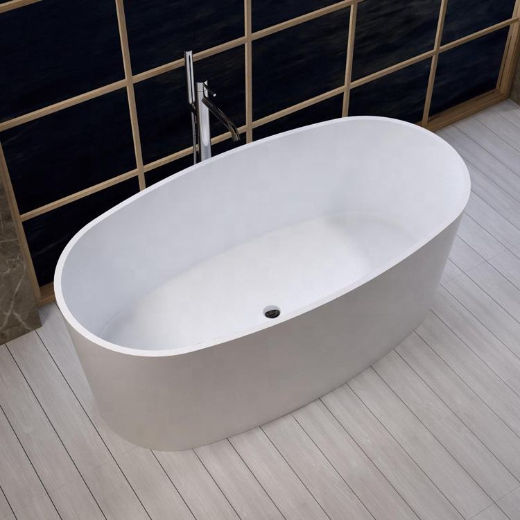 Dubai five Star hotel supplies solid surface artificial stone freestanding bathtub TC-S10