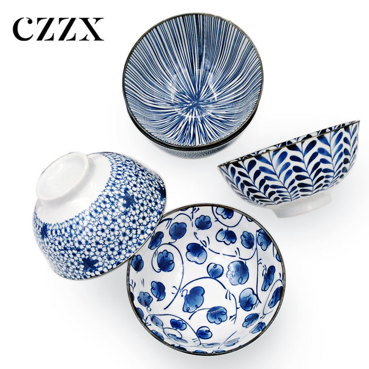 Wholesale fashion cheap gift set korean cereal rice ceramic bowl