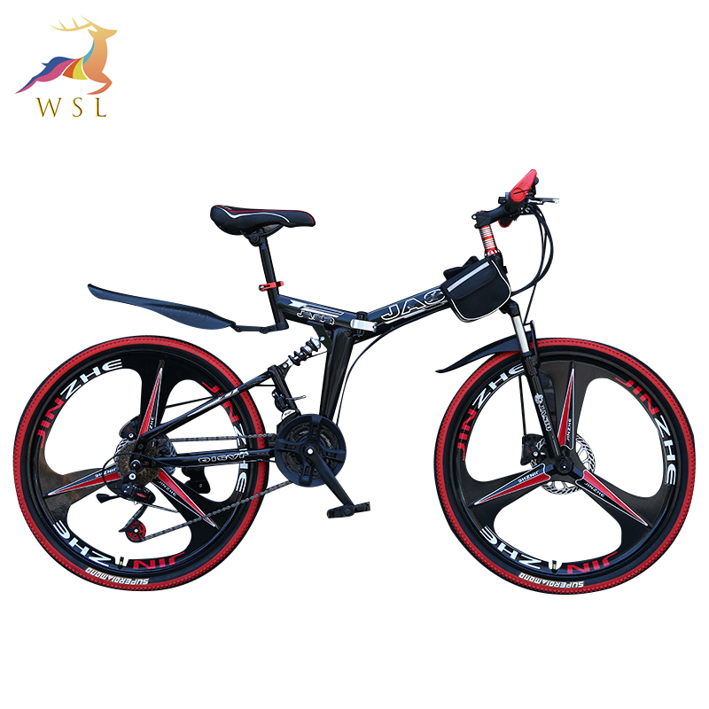 Wholesale full suspension mtb bicycle bicicleta 26 inch bicycle folding mountain bike 21 speed mtb mountain bike cycle in stock