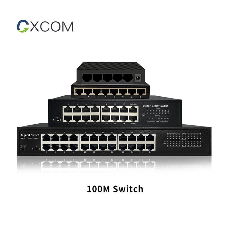 Desktop wall-mount 5 8 16 24 port 10/100Mbps Ethernet switch Hub 12V Plug and Play unmanaged network switch