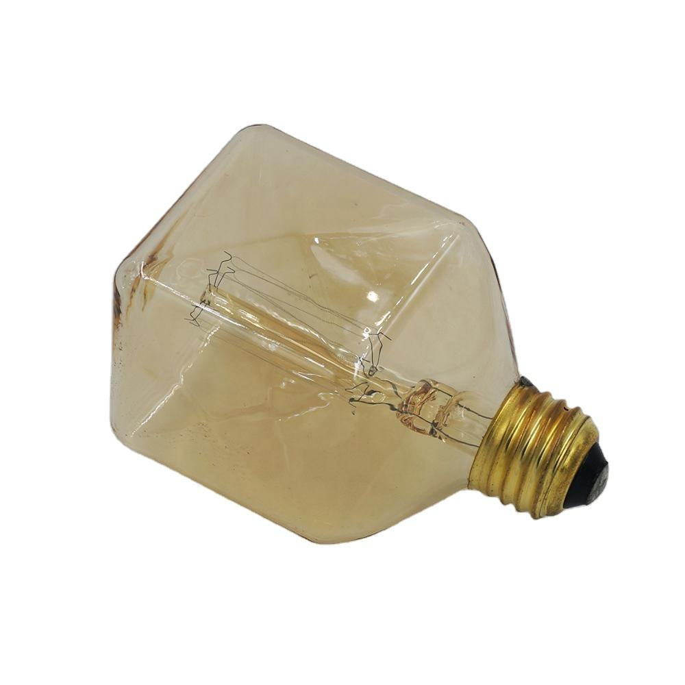 Patented new design square shape SQ80 edison light bulb vintage bulb