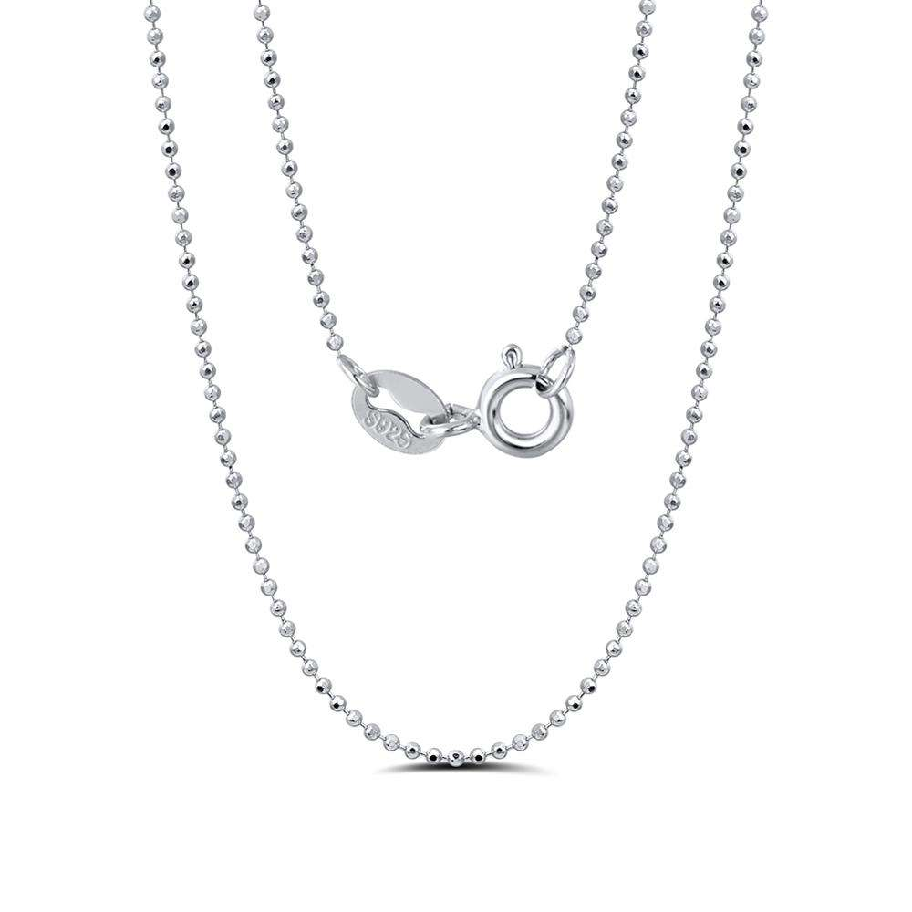 1 2 3 4 or 5 metre lengths . 2.4mm Silver Tin Plated Ball Chain /& Connector