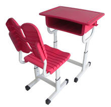 Customized Single Plastic High Quality Used  Student Furniture Kids Study Chair Plastic school Desk