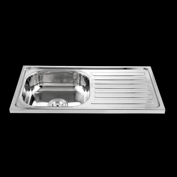(GJ7540) kitchen sink with drain board, stainless steel sink