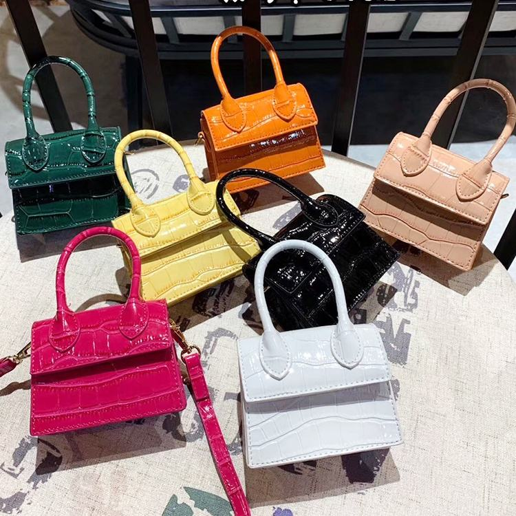 New Arrival mini crocodile embossed ladies shoulder hand bags purse fashion women leather handbags tote bags