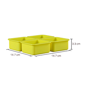 Hot sale square soap mold silicone easy demoulding bar soap molds DIY
