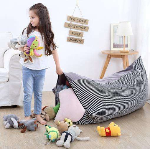 Wholesale Grey Color Toy Play Mat Storage Bag for Kids with Drawstring for Indoor and Outdoor Use