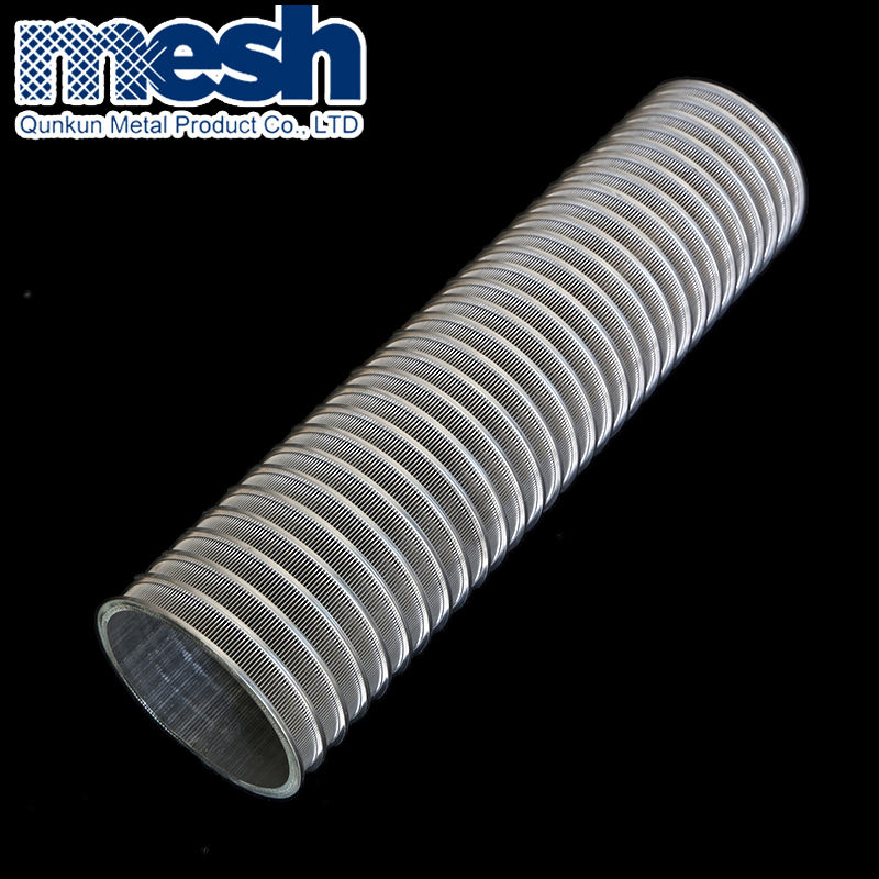 Stainless steel 304 316 parabolic johnson sieve pipe wedge wire screen filter