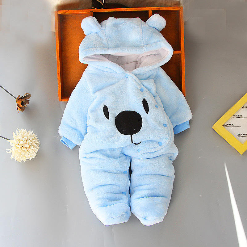 New design baby jumpsuit autumn and winter romper newborn clothes men and women baby winter clothes thickened outdoor clothes