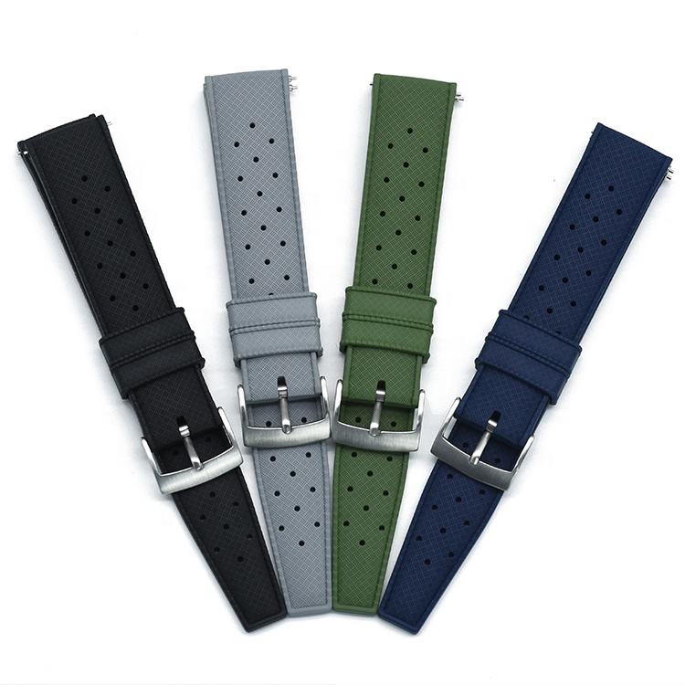 Rubber Tropical Scuba Watch Band Wrist Bracelet Wristbands Strap for Diver Watches with Quick Release