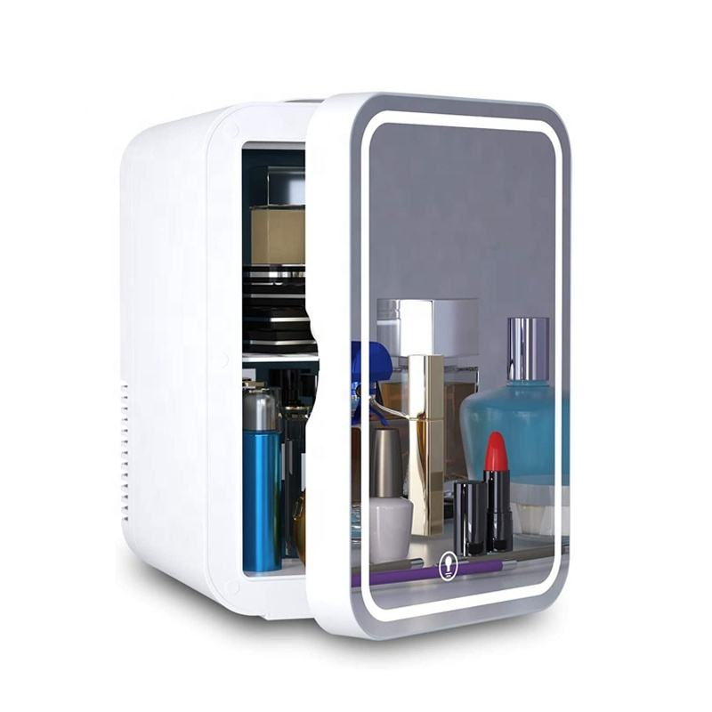 8 Liter Mini Skincare Fridge LED Mirror Door