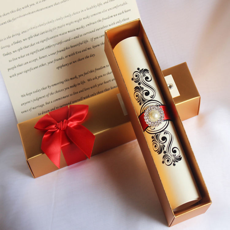 Template Empty Mailing Scroll Wedding Invitations Paper Boxes For Wedding Invitations