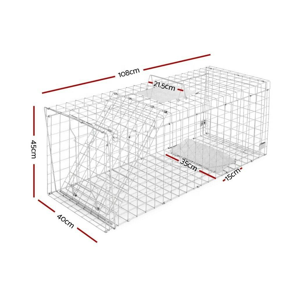 Large Trap Humane Wire Cage Big Live Animal Possum Rat Feral Dog Fox Cat Catcher