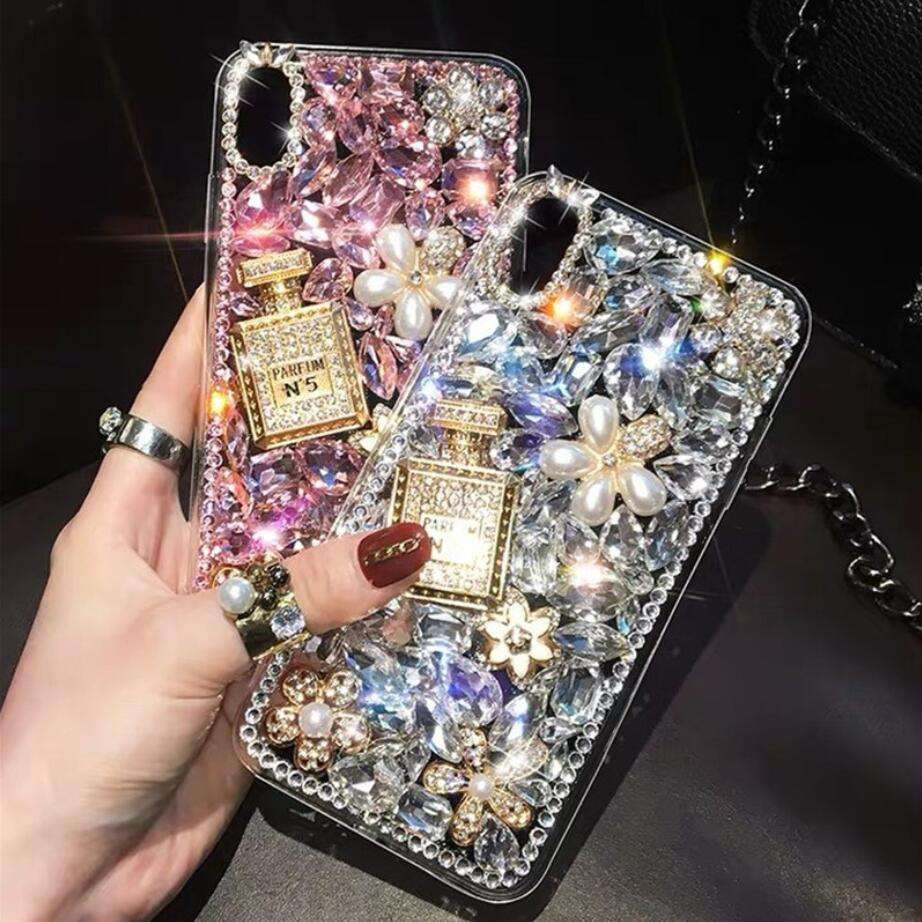 3D Handmade Crystal Clear Bling Full Diamonds Colorful Shiny Rhinestone Mobile Phone Case For Iphone X XS/XR/XS MAX Case